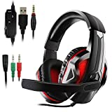 Etpark LED Gaming Headset für PS4 Xbox One for PS4 Xbox One PC with LED
