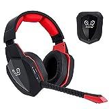 Winkona 2,4 GHz Wireless Gaming Headset – Kompatibel mit PS4 PS3 Xbox one Xbox 360 Computer PC – Klarer Ton Over-Ear Kopfhörer – Abnehmbares Mikrofon – Wiederaufladbarer Akkuoptische
