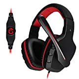 Etpark Xbox One Gaming Headset mit 3,5 mm Kabel Stereo Gaming Headset mit Mikrofon Lautstärkeregler für PS4 PC Tablet Laptop Smartphone Xbox