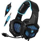 PS4 Kopfhörer, SADES Gaming Headset Stereo Kopfhörer mit Mikrofon (SA-807 Blue)