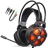 Gaming Headset, EasySMX Stereo Gaming Kopfhörer für PC/MAC Xbox One / PS4 / Smartphone/Nintendo Schalter