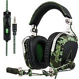 SADES SA926T Xbox One Headset Surround Sound Ove Ear Kopfhörer, Gaming Headsets für Xbox One / PC / Mac / PS4 / Laptop