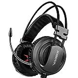 XIBERIA V10 Gaming Headset,Stereo Wired Gaming Kopfhörer mit Rauschunterdrückungs mikrofon,Lautstärkeregelung, Weicher Speicher-Ohrenschützer, Over-Ear Kopfhörer für PS4,Xbox One, PC,Nintendo Switch