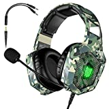 VersionTECH. Gaming-Headset BX022 Mehrfarbig Camouflage