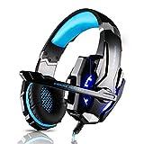 Tsing Stereo PS4 EACH G9000 Gaming Headset 3.5mm PC LED-Licht Gaming Bass Stereo (Schwarz-blau)