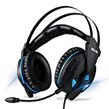 KLIM Impact V2 - Gaming Headset und Mikro (USB) - 7.1 Surround-Sound + Isolation - Hochqualitativer Klang + Klangvolle Bässe - Gaming Headset und Mikro für PC/PS4 Videospiele - Version 2