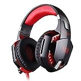 VersionTech Stereo 7.1 Surround Pro USB Gaming Kopfhörer PC Kopfhörer mit Mikrofon, coole LED-Beleuchtung