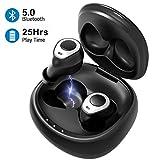 Bluetooth Kopfhörer in Ear, Mpow Bluetooth Ohrhörer Kabellos Wireless Earbuds Bluetooth 5.0 Headset HD Bass Stereo mit CVC 8.0 Noise Cancelling, Ladebox bis 25H, IPX7 für iPhone Android Samsung Huawei