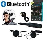 Bluetooth wasserdichte Motorradhelm Headset MP3 MICROFONO AURICOLARE