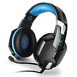 Tsing-Gaming-Headset/Over-Ear-Kopfhörer mit Mikrofon, für PC Computer Blue-G1200